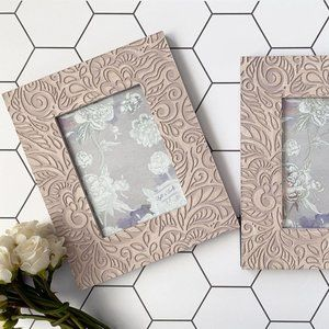 Two Carved Picture Frames in Vintage Rose